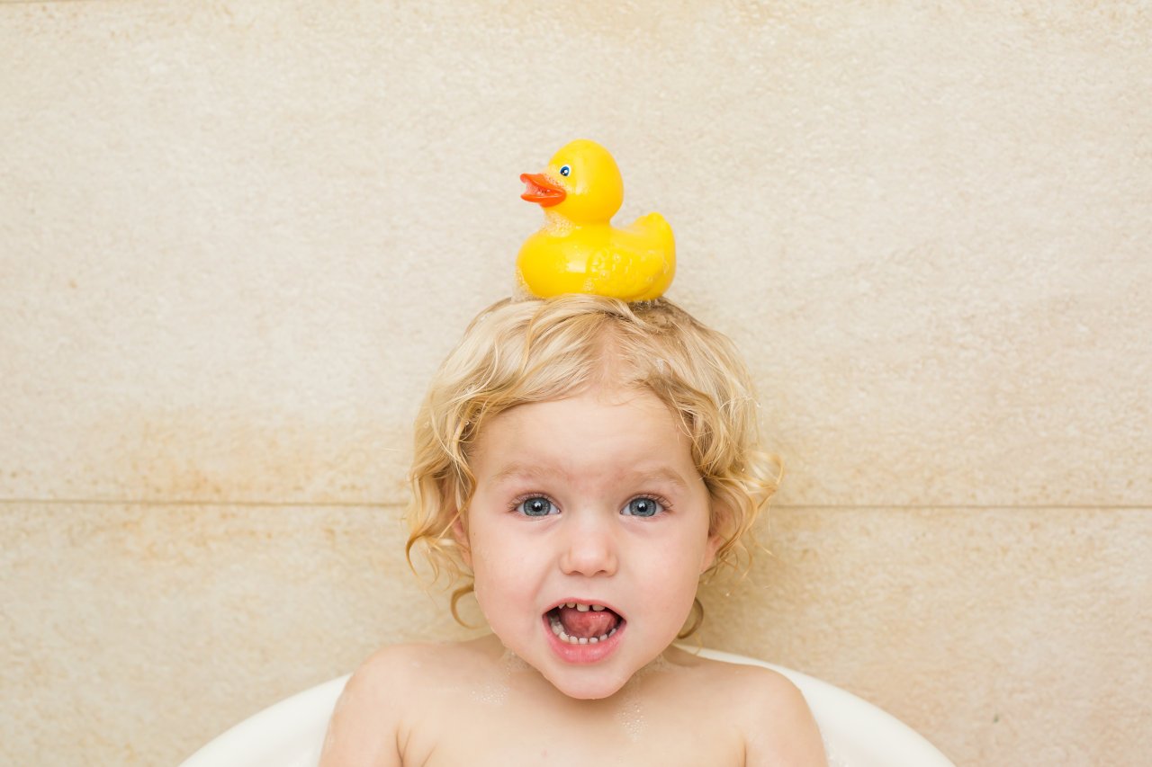 toddler in the bathtub
