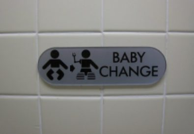 Proper disposal of diapers.