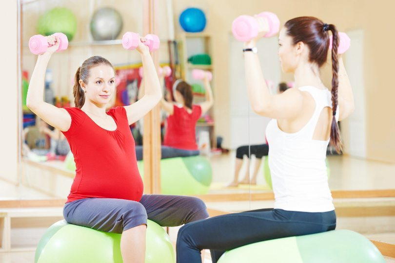 losing weight with a certified prenatal trainer