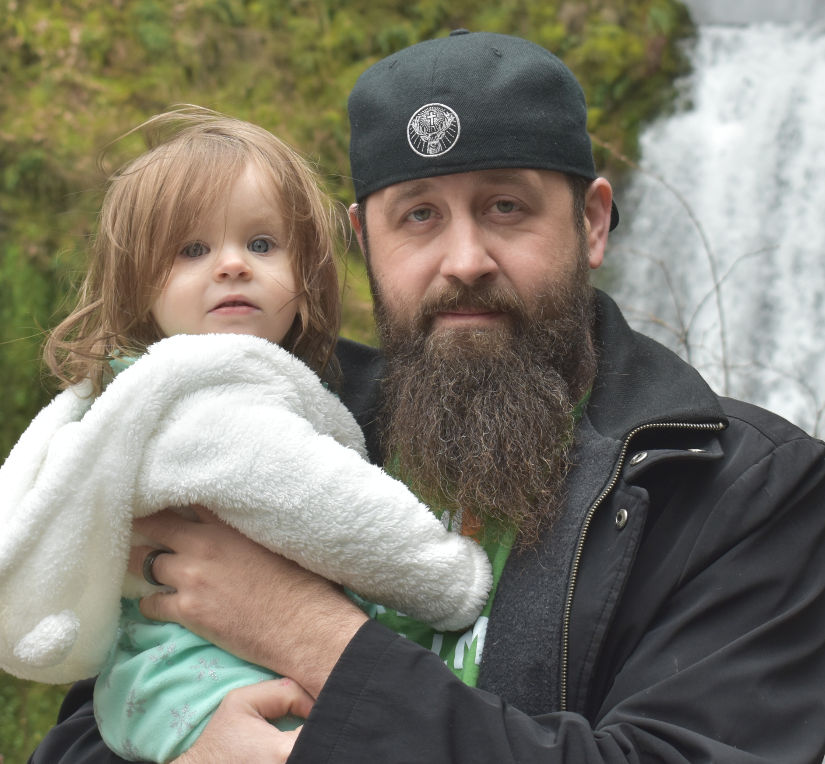 Matthew and our daughter.